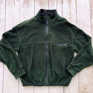 WUDCAHK fleece dk green polartec lined fleece